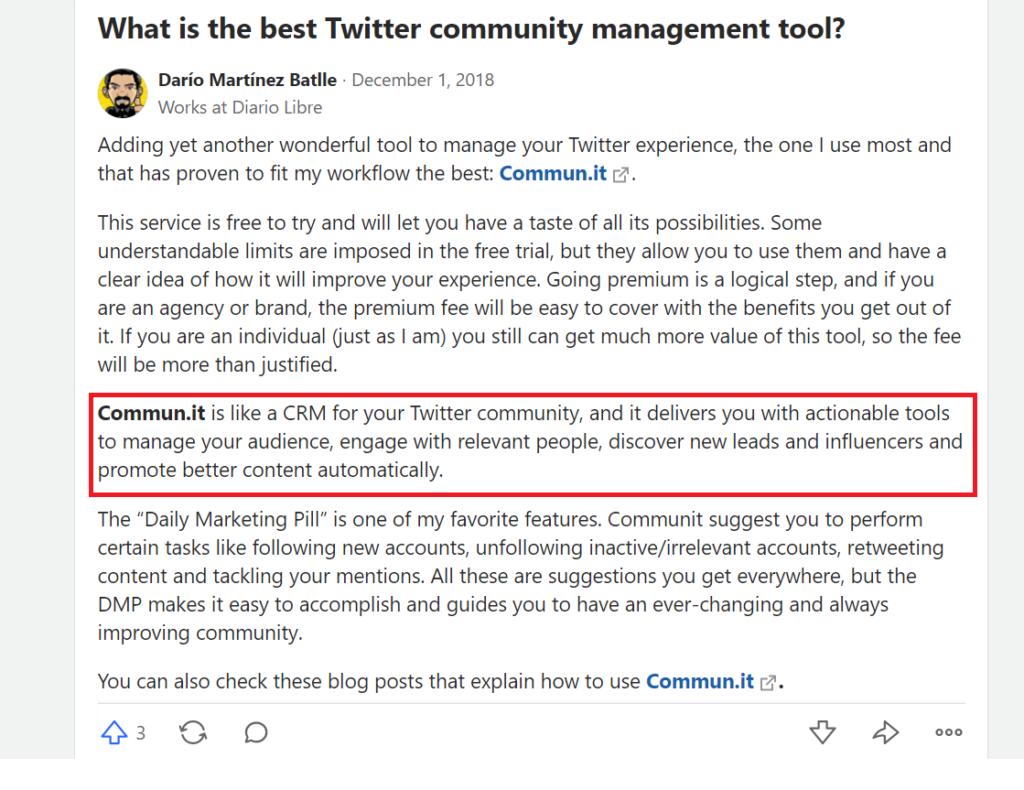complete social platforms management from one platform  - supports facebook twitter