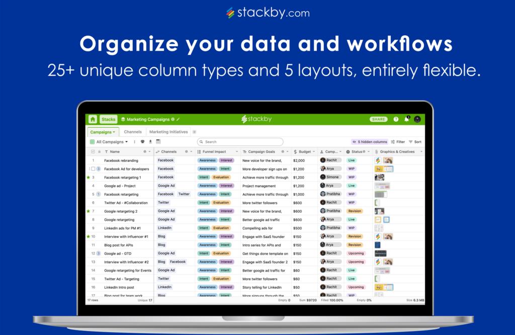 freelance management system - stackby