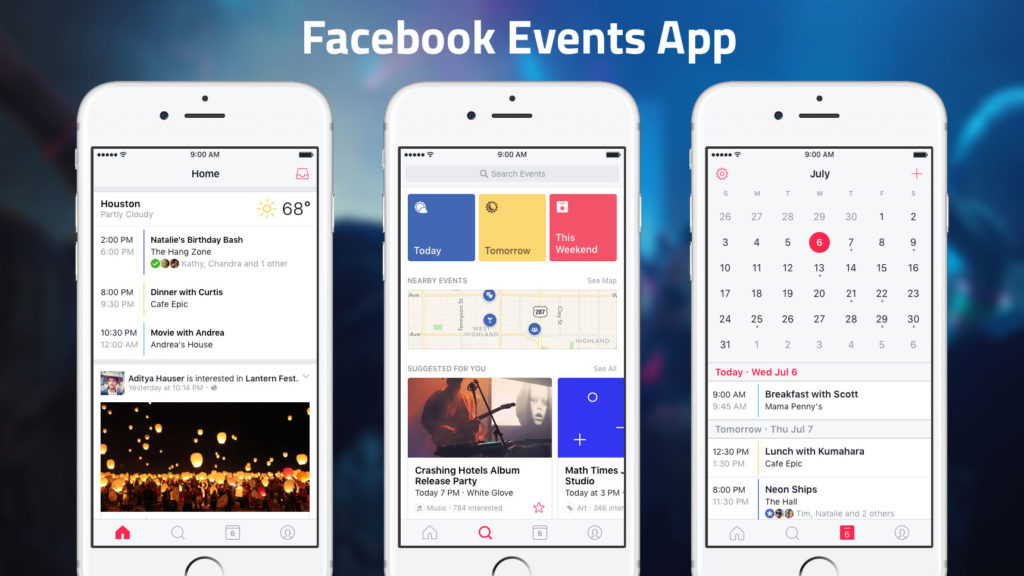 meetup alternative - events by facebook