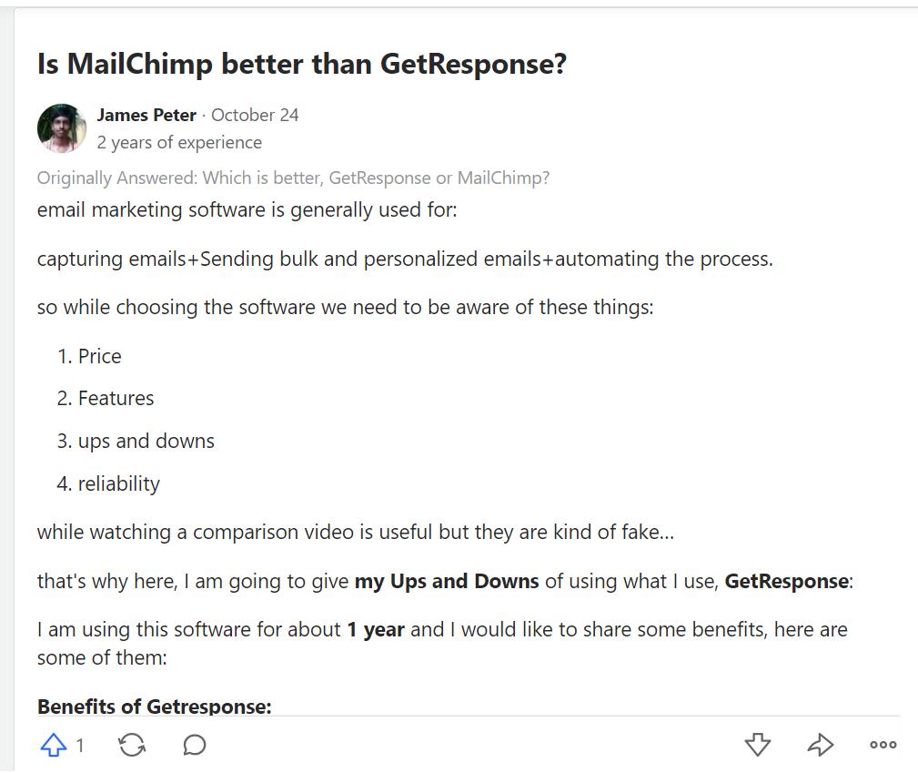 GetResponse vs MailChimp - 150% More Effective App for Marketer 4