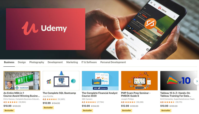 course management system - udemy