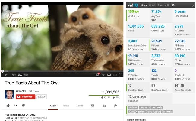 youtube marketing - vidiq
