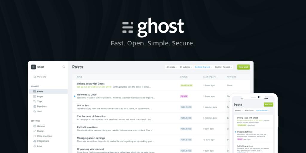 Wordpress alternative - ghost