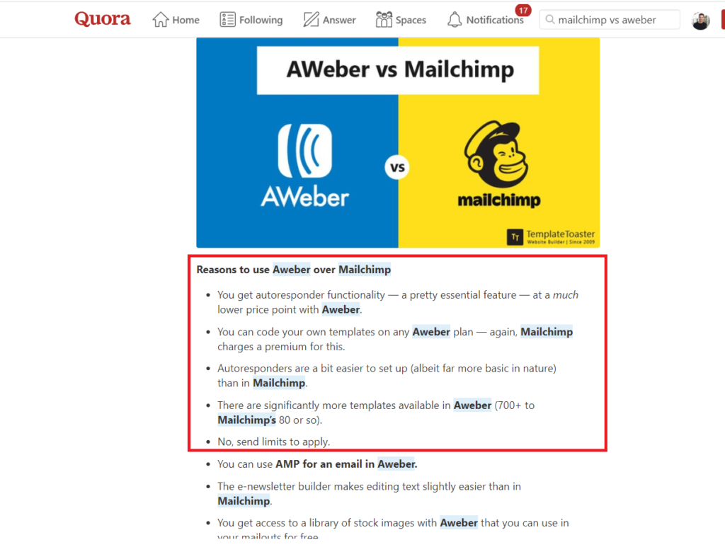 MailChimp vs Aweber - Best tool for the Professional Marketer 3