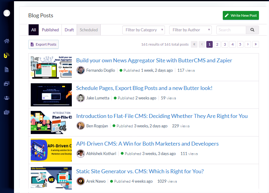 Wordpress alternative - butter cms