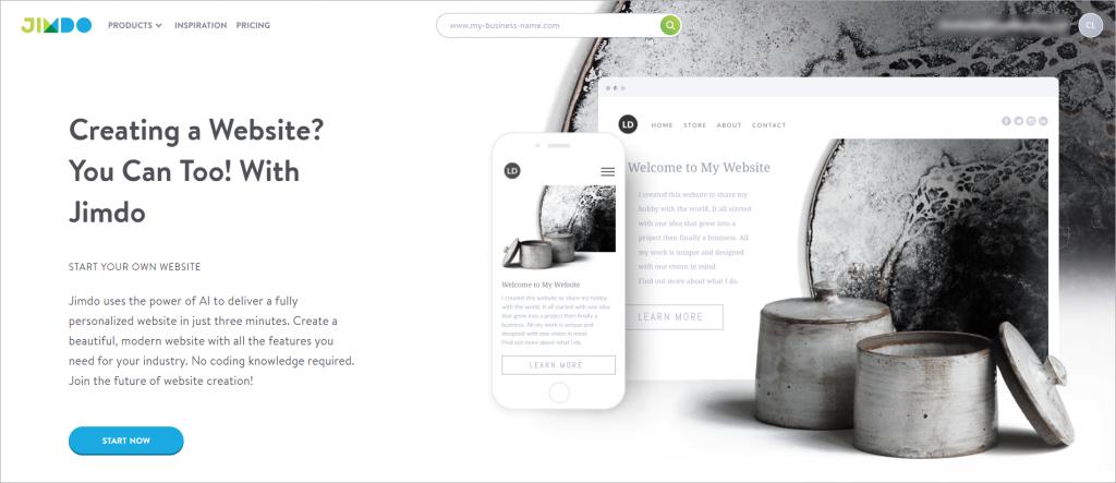 Wordpress alternative - jimdo