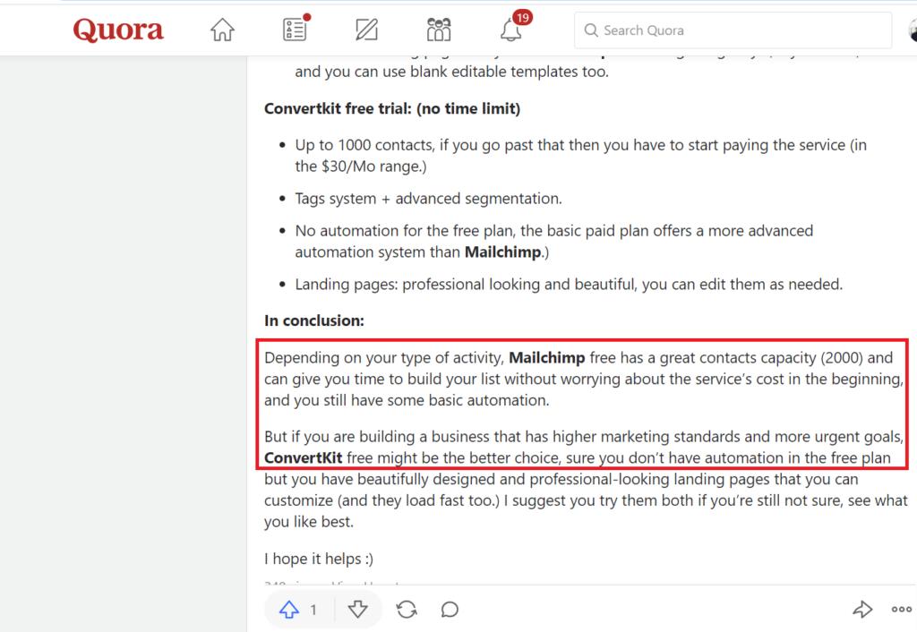 ConvertKit vs Mailchimp - Best tool for Bloggers 1