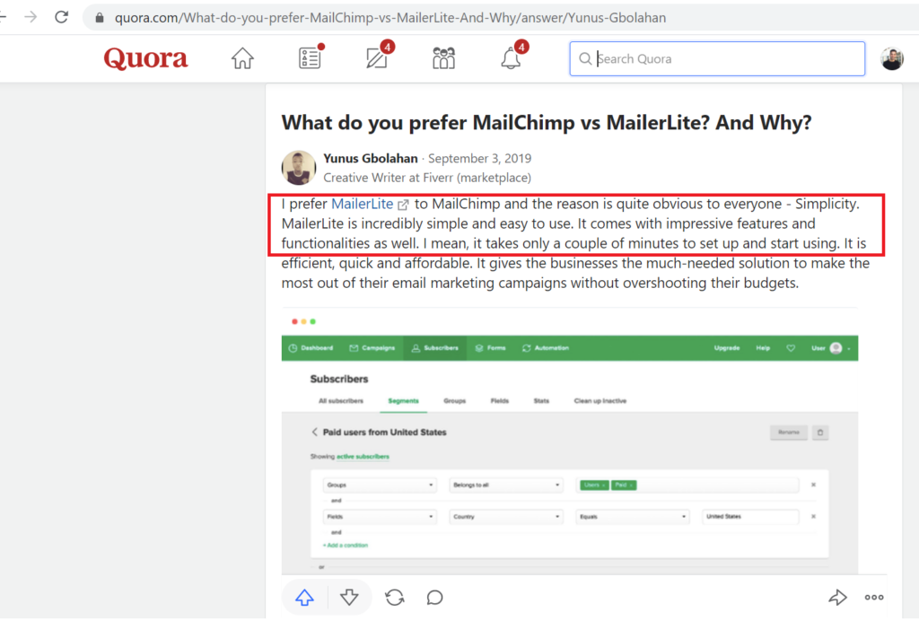 Mailerlite vs Mailchimp - Best Lightweight Email Automation Tool? 10