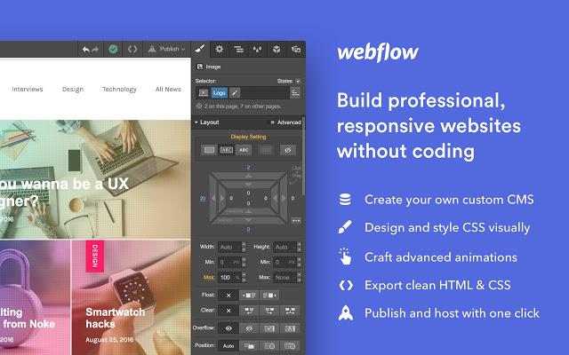 Wordpress alternative - webflow