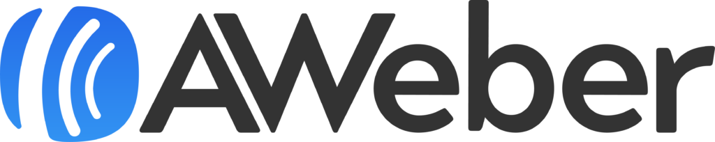 Aweber logo - beginner friendly - customizable stores and resources - affiliate marketers - collect emails