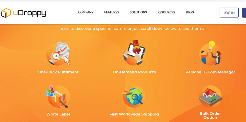 Dropshipping website builders - uDroppy