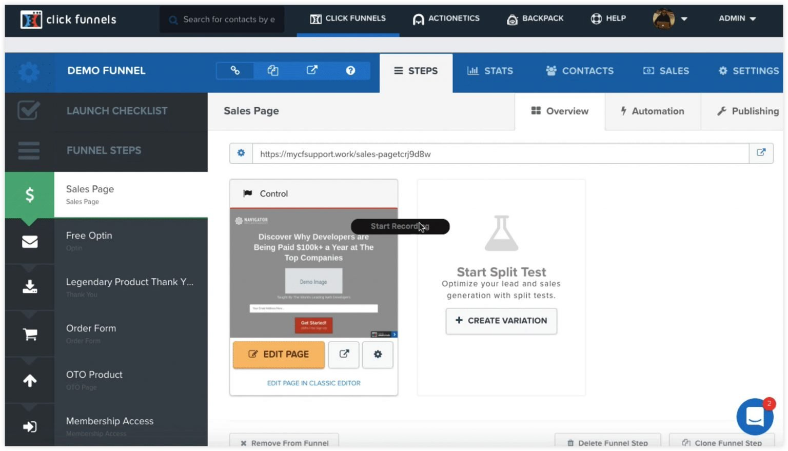 clickfunnels landing page buiilder - best free trial- high converting pages - create checkout page template - features clickfunnels free