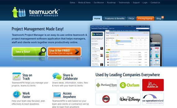 project management tools for freelancers - teamwork