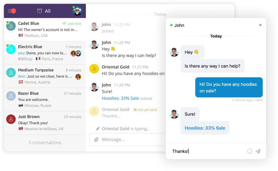 chatbot website app- Chatra.io