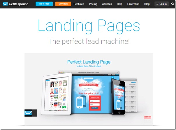 email marketing app for freelancers - getresponse