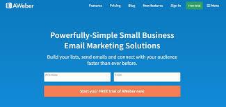 email marketing app for freelancers - aweber
