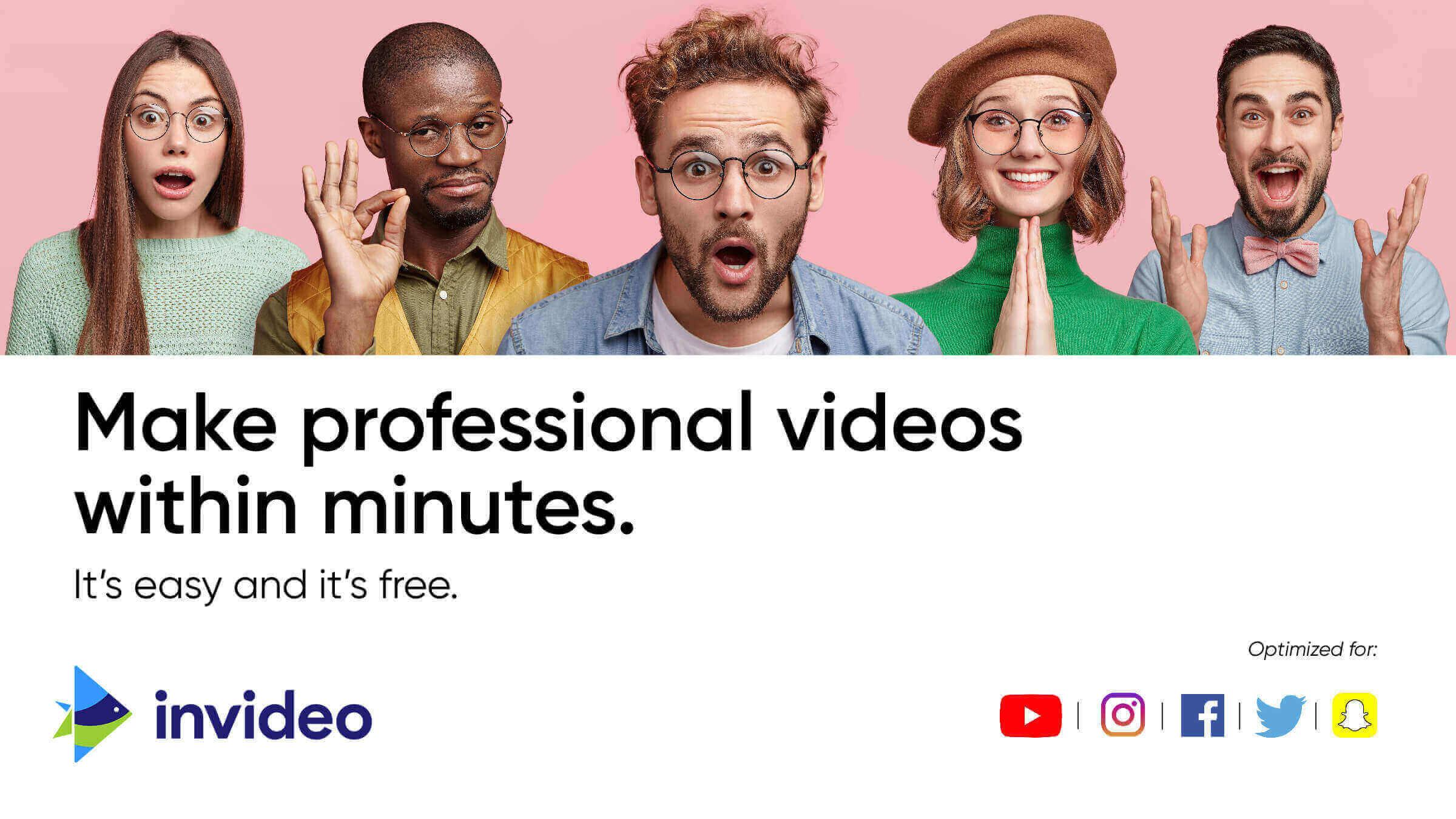 tools for content creators - invideo