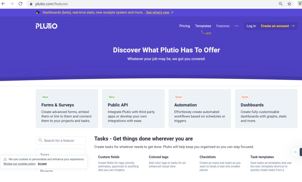 Plutio features