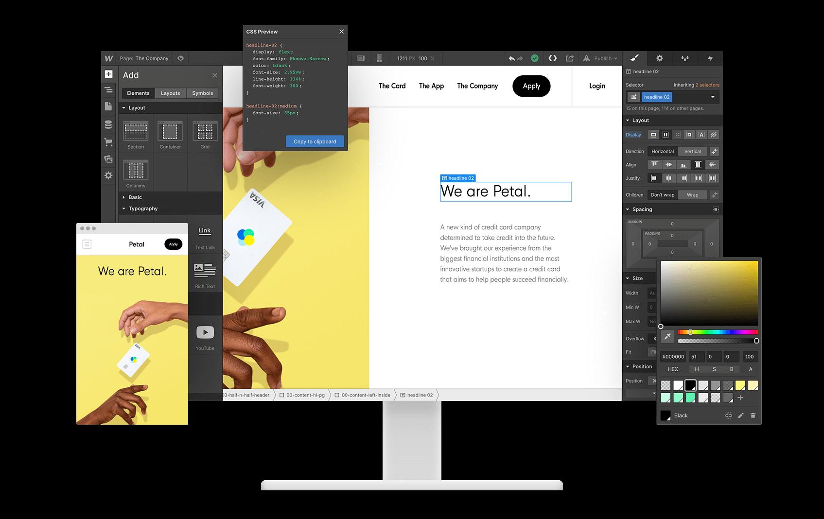 wix alternative - webflow