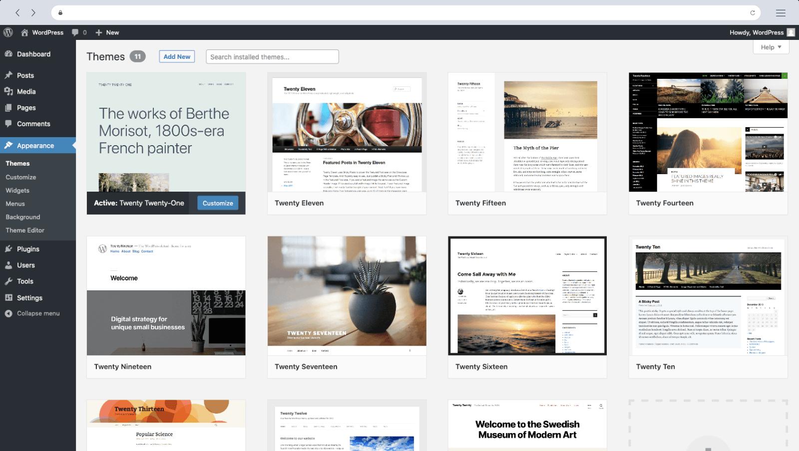 wix alternative - wordpress