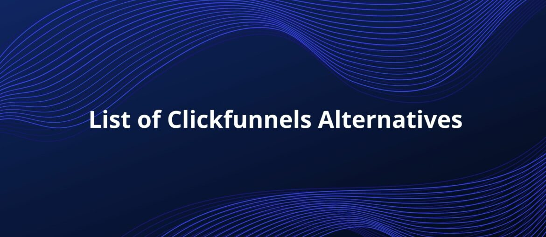 clickfunnels alternatives