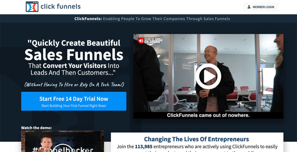 alternatives to clickfunnels - offers drag and drop website builder - checkout page - feature rich tool