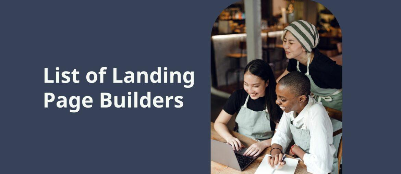 landing page builder tools