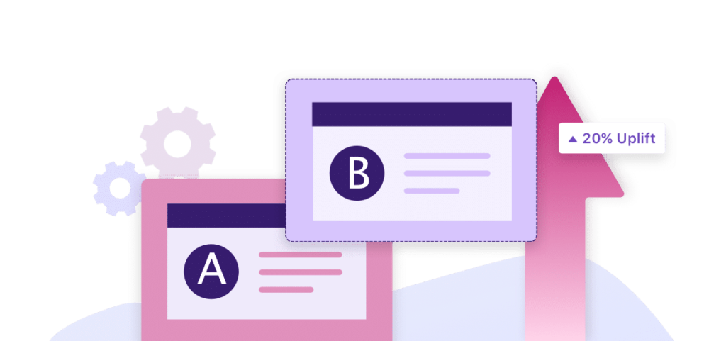 a/b testing - b test - landing page to improve conversion rates and generate leads