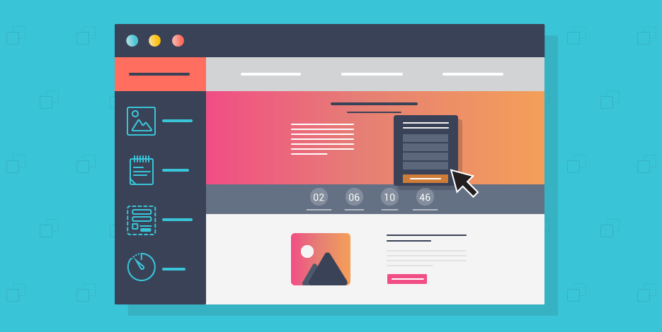 landing page banner -  get user to sign up and generate leads - highlight the essential ctas