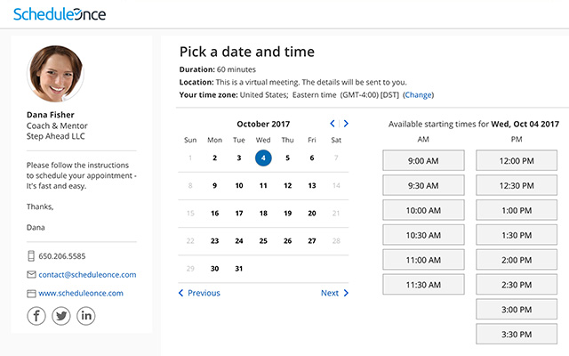 schedule once - appointments apps for business