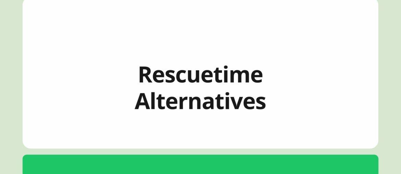 rescuetime alternatives