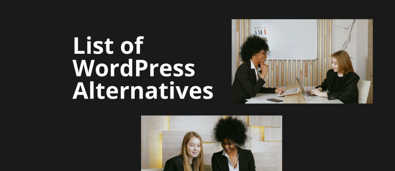 top wordpress alternatives