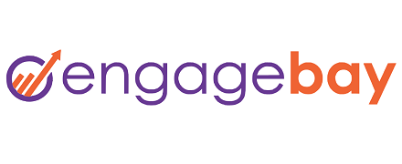 engagebay comoany logo - intuitive and smart tool like Mailchimp -30 day emails using this tool - start at 10 and less - send friendly email